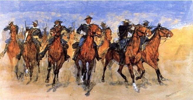 Colored Troops to the Rescue, Frederic Remington