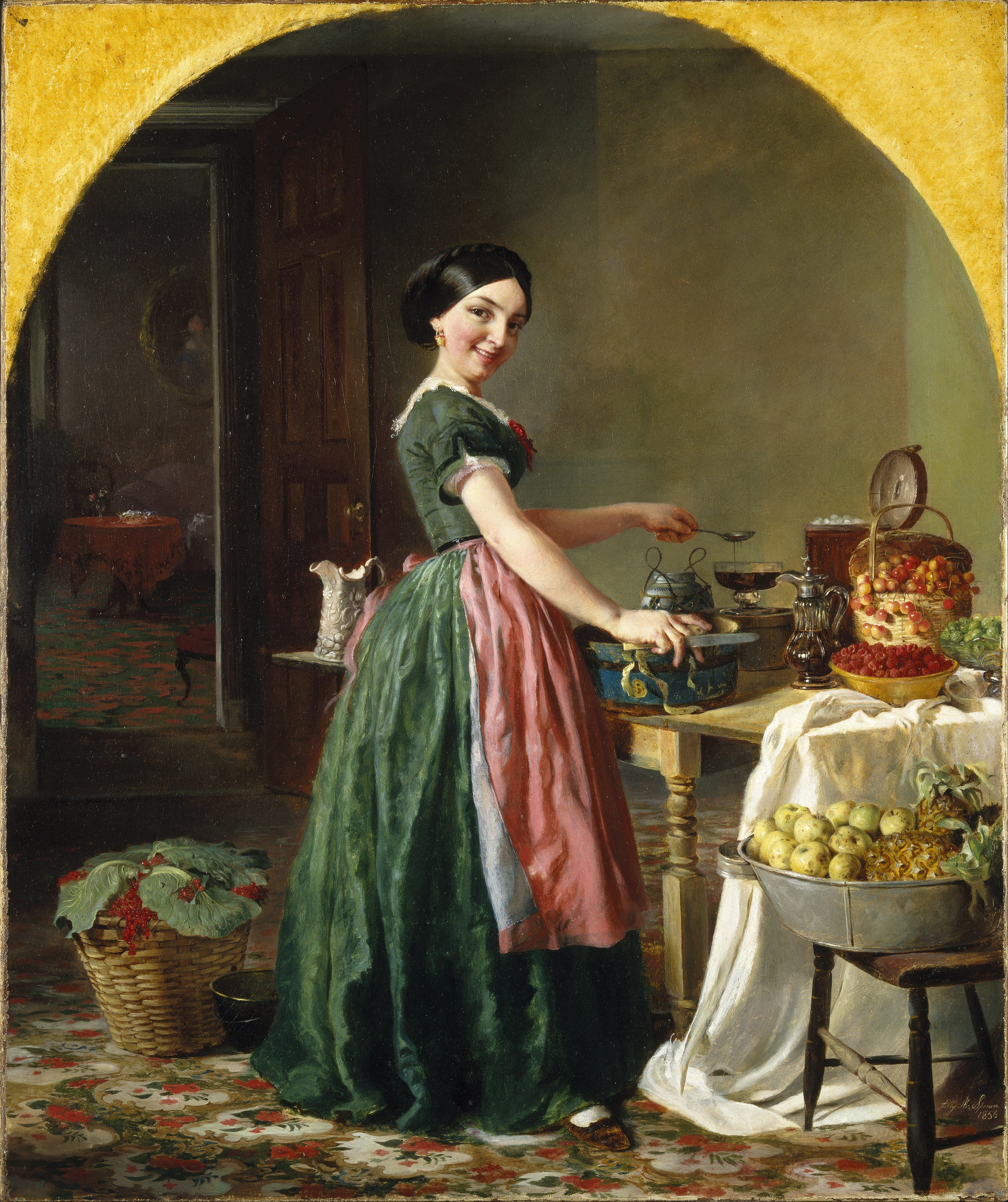 Lilly Martin Spencer Famous Artist – Nothing Gilded, Nothing Gained