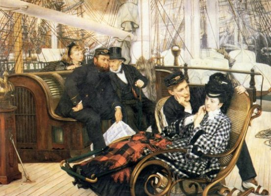 """Have I told you that you rock that bustle?"" Tissot"