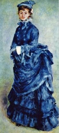 Little hottie in blue. Renoir