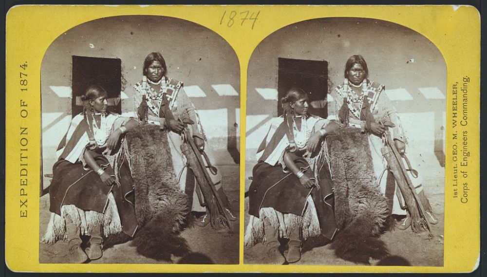 Apache couple recently wedded.