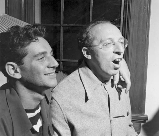 Wouldn't you like to hang out with Bernstein and Copland? Fun times.