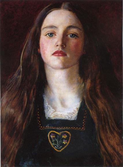 """Portrait of a Girl (Sophie Gray)""  Sir John Everett Millais"