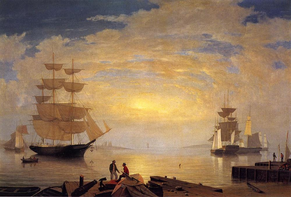 Fitz_hugh_lane_Gloucester_Harbor_at_Sunrise