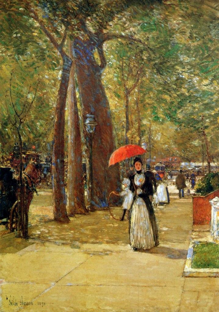hassam-childe-fifth-avenue-at-washington-square-sun