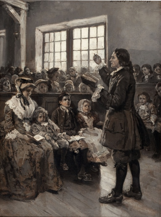 John Wesley Teaching His Sunday School, 1897 by Alice Barber Stephens