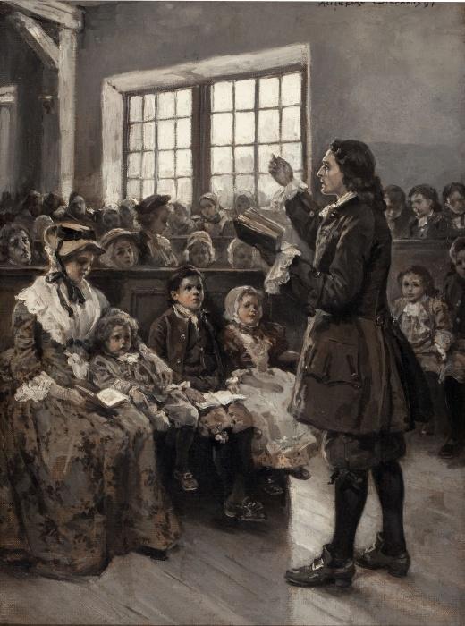 John Wesley Teaching His Sunday School, 1897 by Alice Barber Stephens