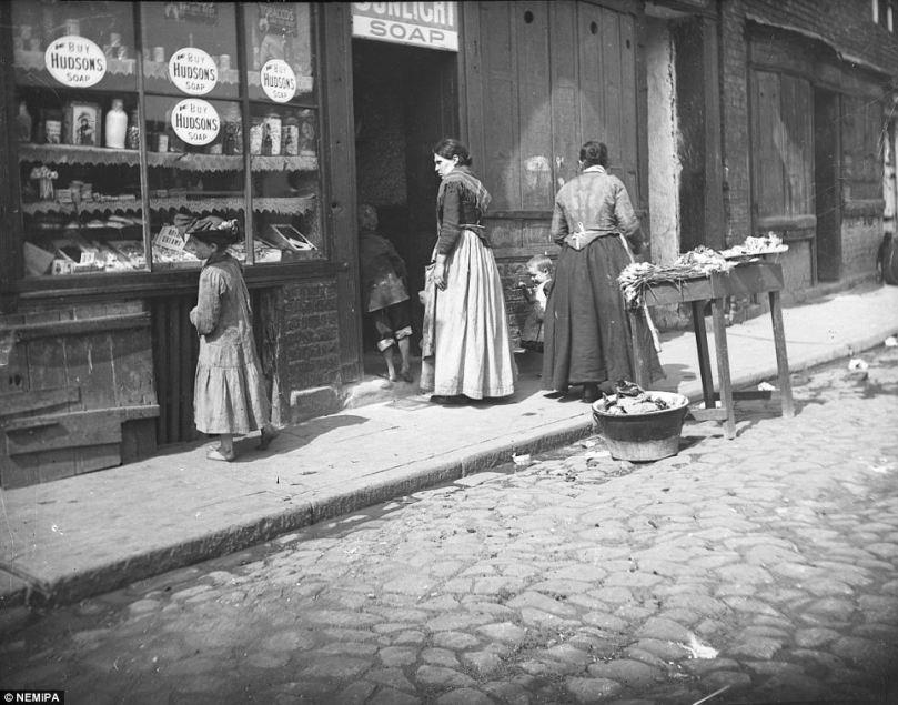 Young girl window shopping