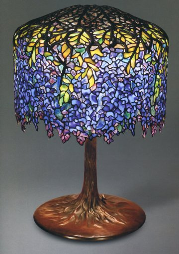Wisteria Lamp, designed by Clara Driscoll. The Lamps of Louis Comfort Tiffany, by Martin Eidelberg, et al. Vendome Press, New York, 2005.