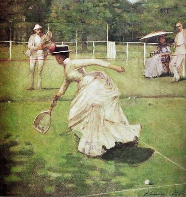 John Lavery (Irish painter, 1856-1941) A Game of Tennis