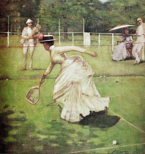 John Lavery (Irish painter, 1856-1941) A Game of Tennis