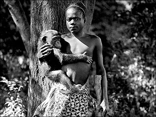 Ota Benga at the Bronx Zoo