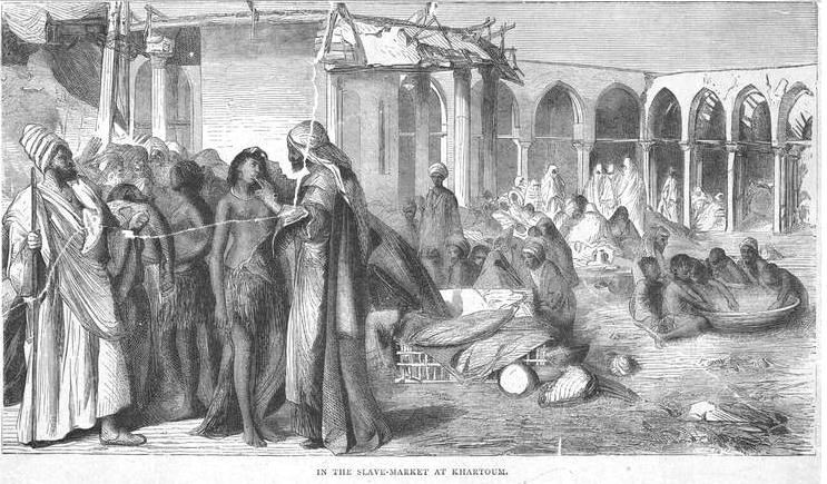 Slave market Khartoum Sudan 19th century 1876