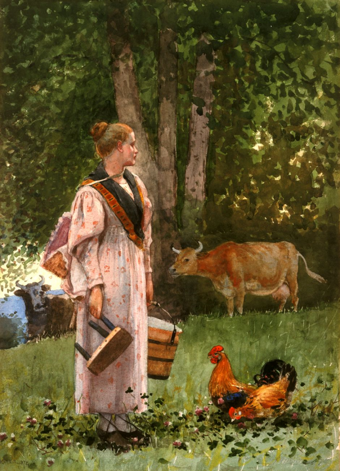 The Milk Maid, Winslow Homer