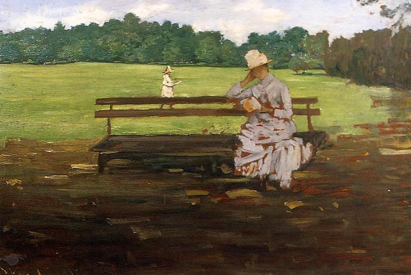 In my imagination it's summer in William Merritt Chase's Prospect Park