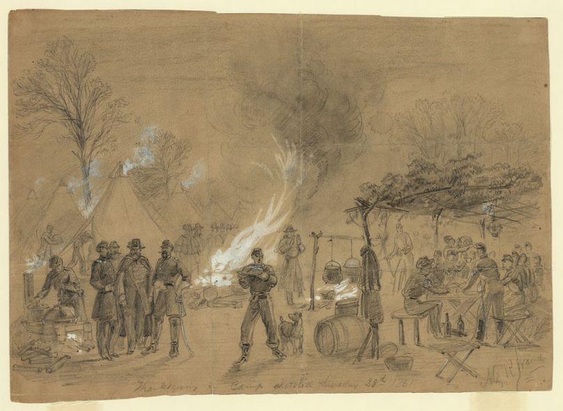 """""""It isn't the turkey, but the idea we care for."""" Thanksgiving in Camp 1861"""