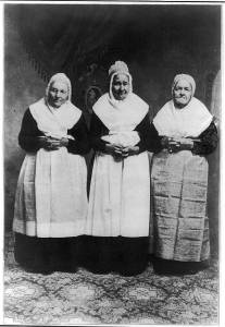 I bet these women knew how to knit a good turtleneck.