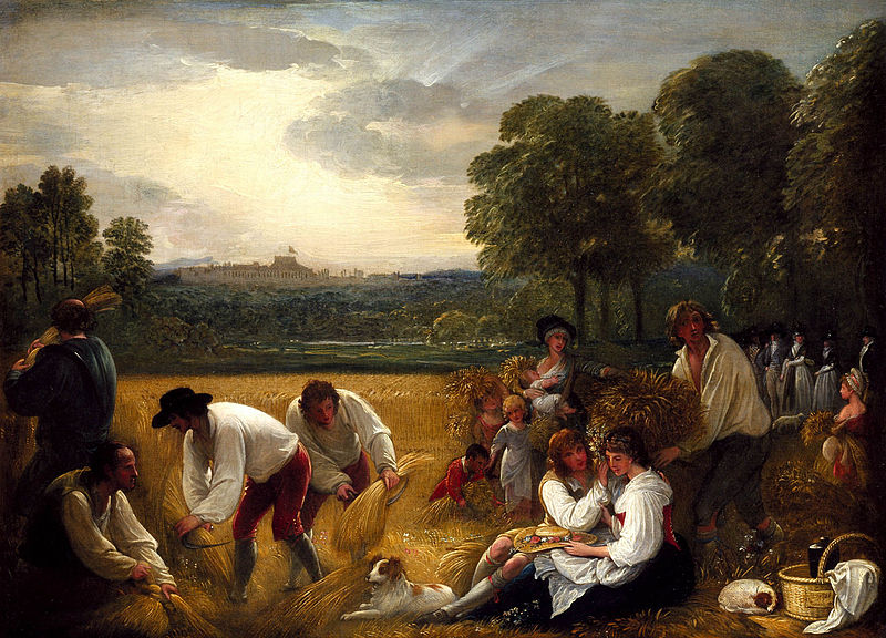 Harvesting at Windsor by Benjamin West