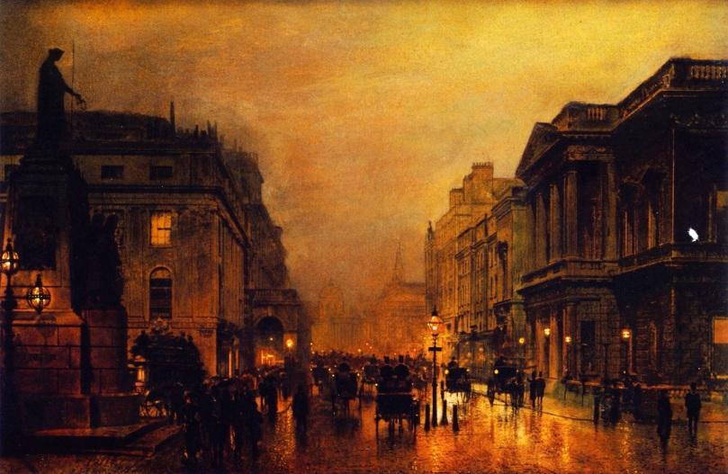 London, Pall Mall and Saint James Street by John Atkinson Grimshaw