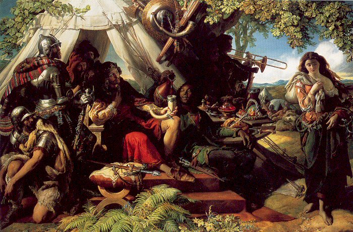 King Cophetua and the Beggarmaid by Daniel Maclise
