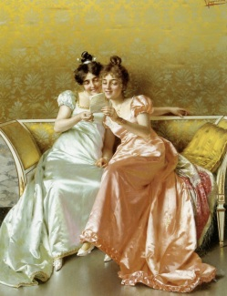 Image result for 19th century painting reading
