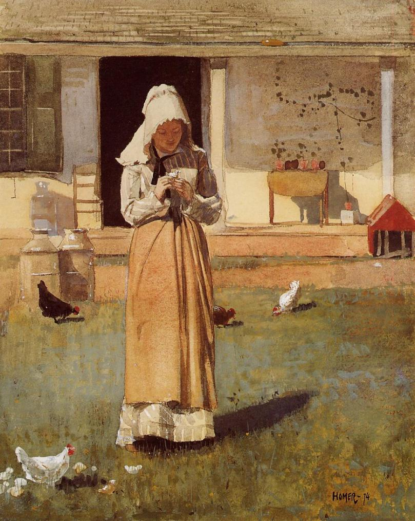 The Sick Chicken by Winslow Homer