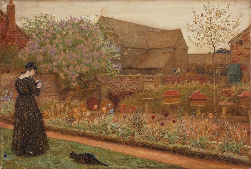 Frederick Walker The Old Farm Garden 1871