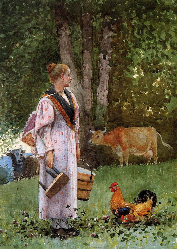 The Milk Maid, Winslow Homer. As always Winslow is my guy.