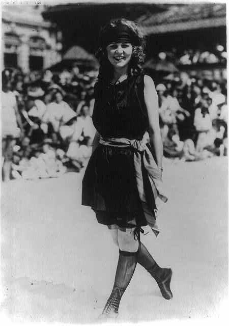 Margaret rocking the stockings.