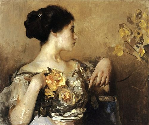 Lady with a Corsage, Edmund C. Tarbell