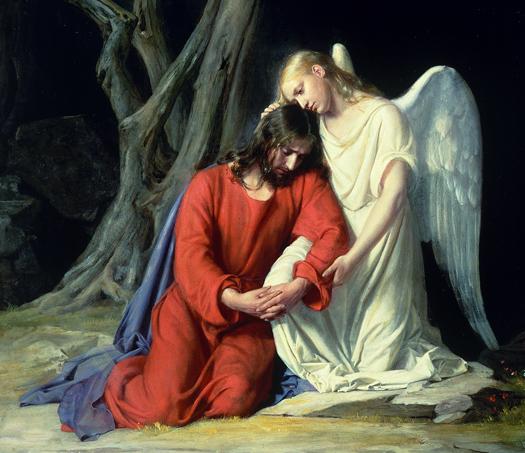 In Gethsemane, Carl Bloch 1834-1890