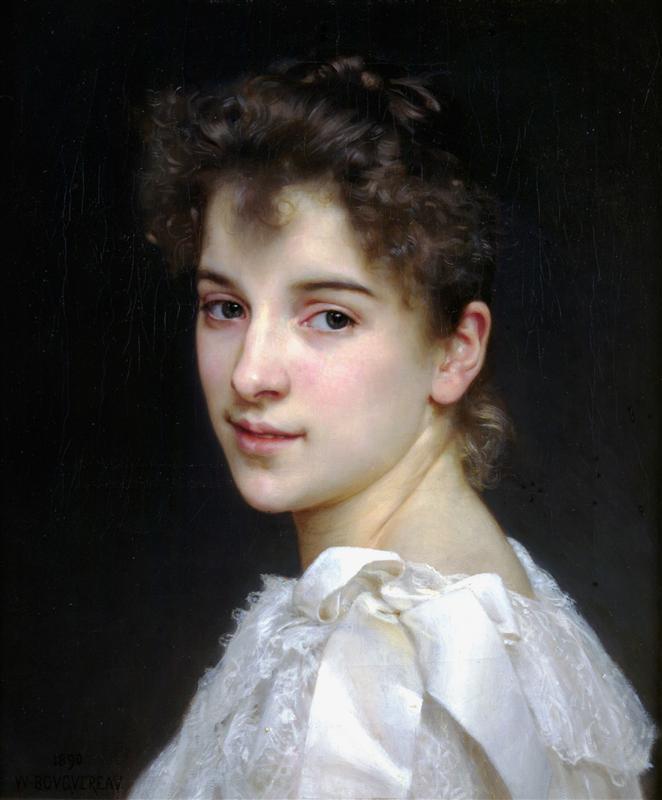 Portrait de Gabrielle Cot by William-Adolphe Bouguereau