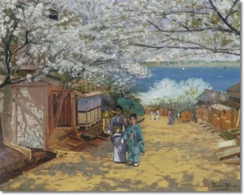 Theodore Wores Cherry Blossoms Yokohama 1893
