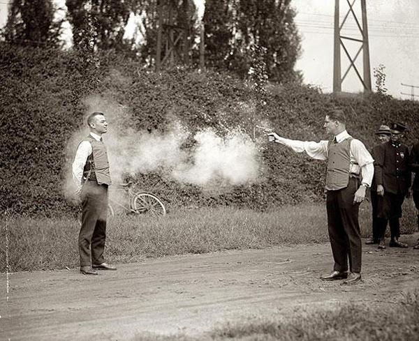 Testing a new bulletproof vest!