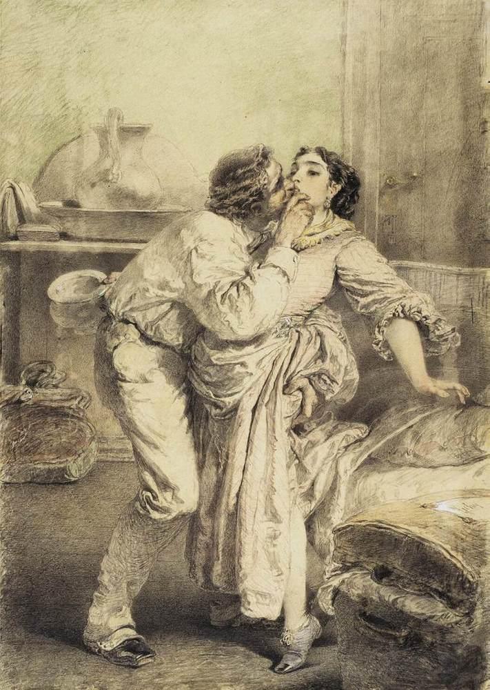 Erotica by  Mihály Zichy