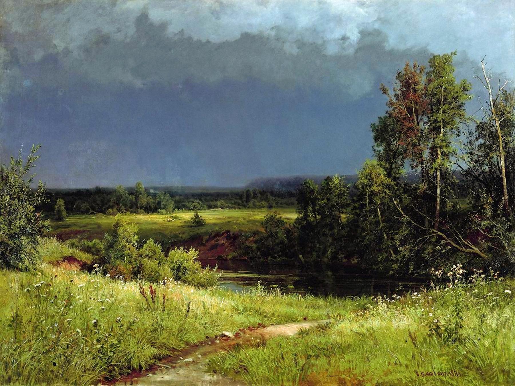 00 Ivan Shishkin. Before the Storm. 1884