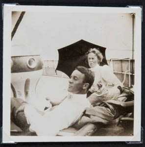Harvey Cushing and his wife Kate during a rare down time.