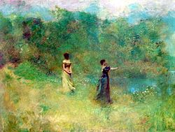 Summer painted at the artist colony founded by Saint Gaudens by Thomas Wilmer Dewing