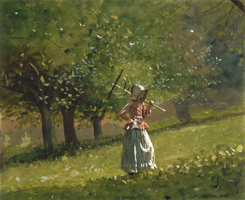 Girl with Rake, Winslow Homer