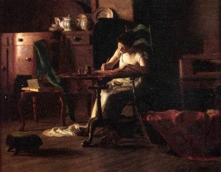 Writing at Dawn by Thomas Anshutz