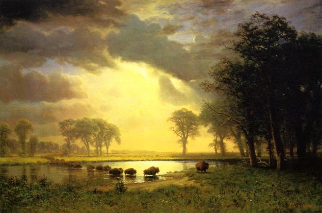 Albert Bierstadt - The Buffalo Trail
