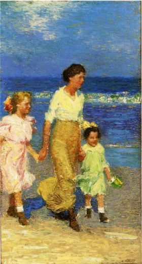 edward-henry-potthast-a-walk-on-the-beach-77408