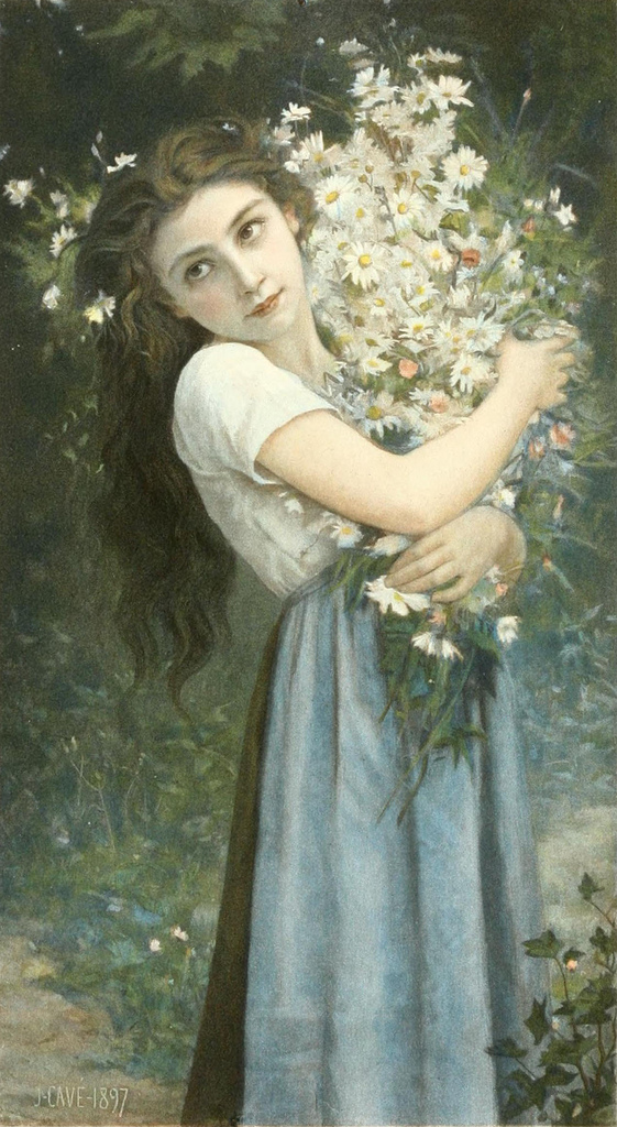 Jules Cyrille Cave (1859- 1940) The Flower Girl