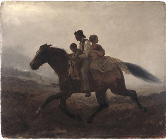 A Ride for Liberty – The Fugitive Slaves Artist: Eastman Johnson Year: 1862