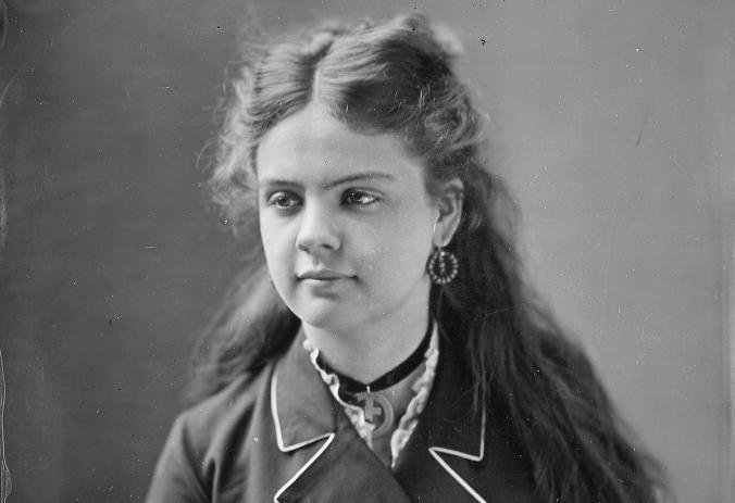 A portrait of Miss E. Demine, taken by photographer Mathew Brady (courtesy NARA)