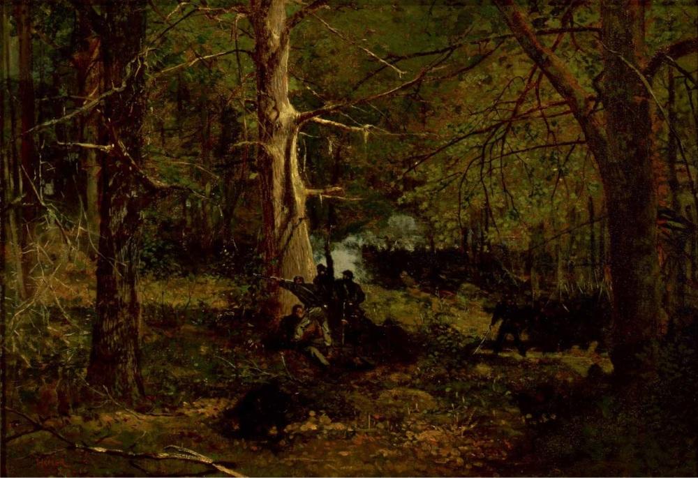 Skirmish in the Wilderness by Winslow Homer