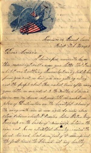 Civil War letter courtesy albanyhilltowns.com