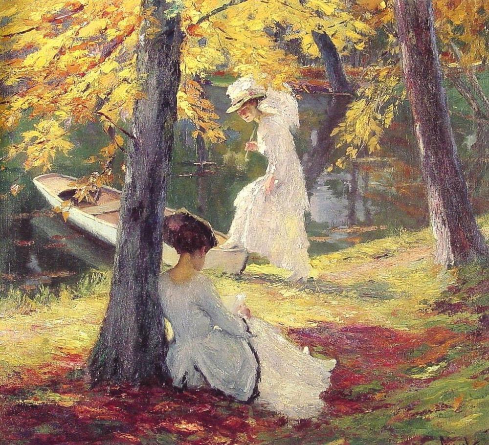 Autumn Sun by Edward Cucuel