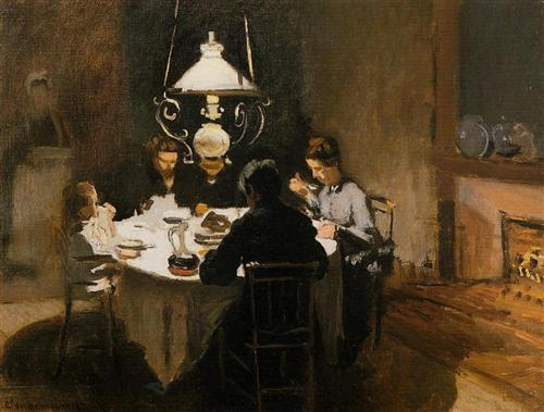 The Dinner by Claude Monet
