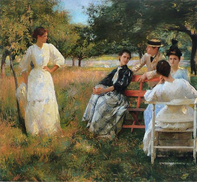 American impressionist Tarbell_-_Au_verger